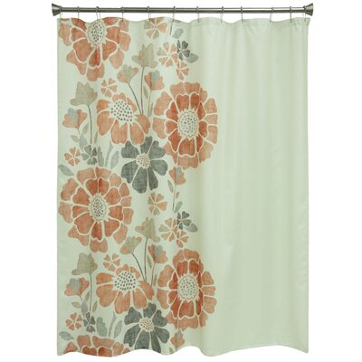 Carnside Floral Shower Curtain Color: Spice