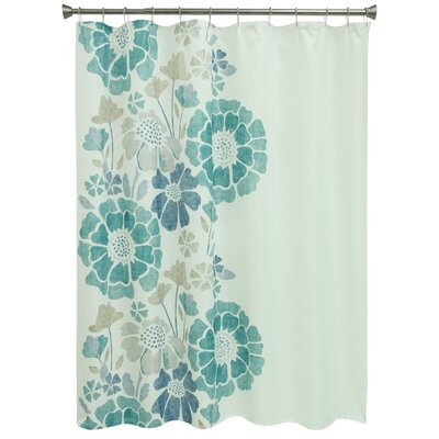 Carnside Floral Shower Curtain Color: Blue