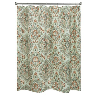 Carnside Cream Floral Shower Curtain