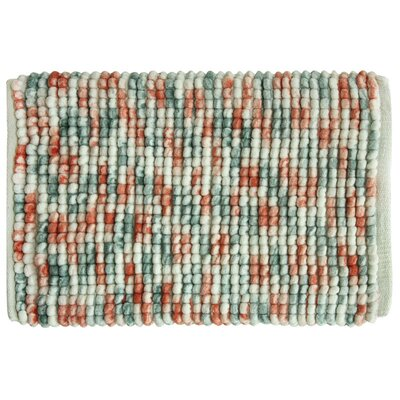 Harper Bath Rug Color: Coral