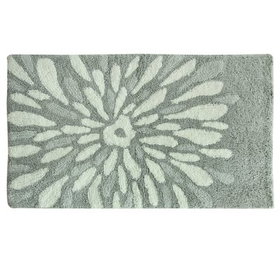 Delores Flower Power Bath Rug Color: Gray