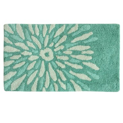 Delores Flower Power Bath Rug Color: Teal