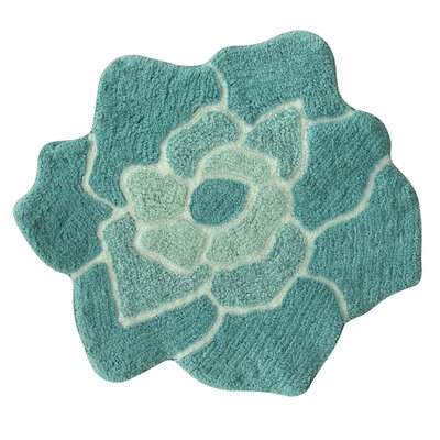 Melody Bath Rug Color: Teal