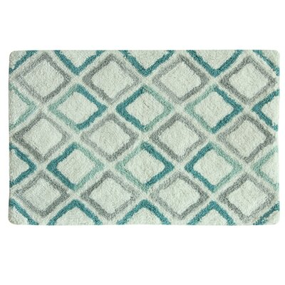 Ginger Bath Rug Color: Teal