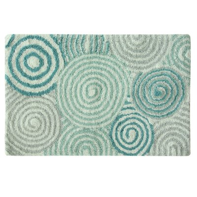 Esther Bath Rug Color: Teal