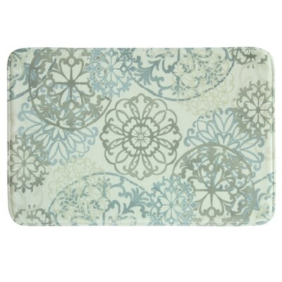 Allena Bath Rug Color: Beige/Green
