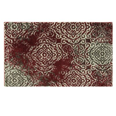 Acuna Warm Red Area Rug Rug Size: Rectangle 18 x 28