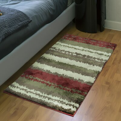 Izaguirre Red Area Rug Rug Size: Rectangle 23 x 39