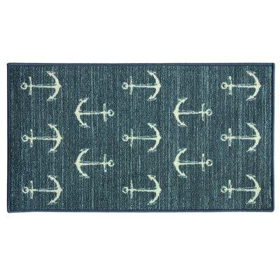 Elianna Ahoy Blue Area Rug Rug Size: Rectangle 2 x 34