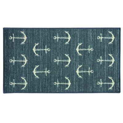 Elianna Ahoy Blue Area Rug Rug Size: Rectangle 2 x 34