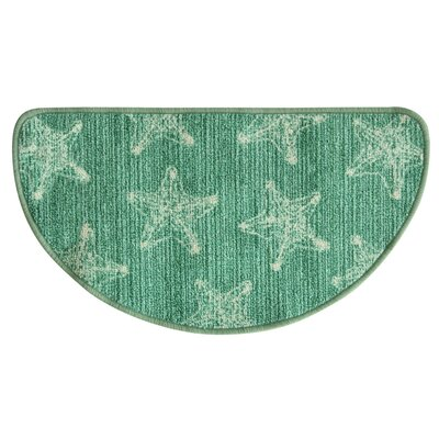 Elianna Sea Star Green Area Rug Rug Size: Half Circle 16 x 27
