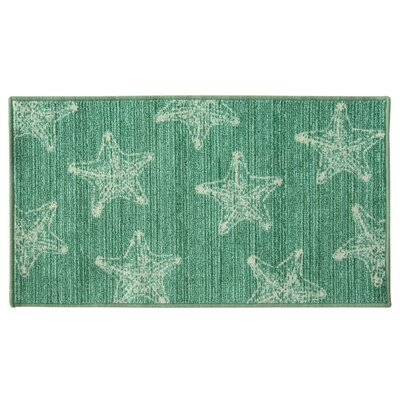 Elianna Sea Star Green Area Rug Rug Size: Rectangle 2 x 34