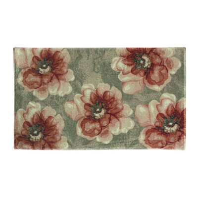 Vennie Floral Red/Green Area Rug Rug Size: Rectangle 18 x 28
