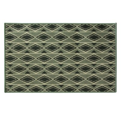 Matos Diamondback Black/Gray Area Rug Rug Size: Rectangle 24 x 39