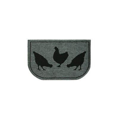 Eastpointe Slice Hen Trio Gray/Black Area Rug
