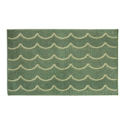 Eldridge Wave After Wave Green Area Rug