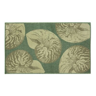 Eldridge Nautilus Rows Blue/Beige Area Rug