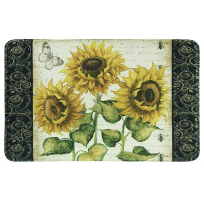 Allman Sunflower Yellow/Green Area Rug