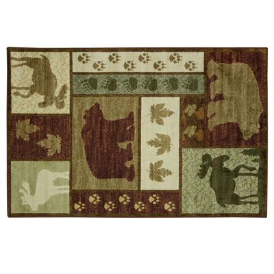 Montross Wilderness Lodge Green/Brown Area Rug Rug Size: Rectangle 53 x 8