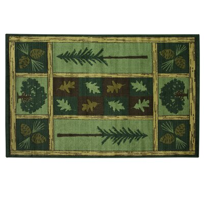 Montross Woodland Escape Green Area Rug Rug Size: Rectangle 53 x 8