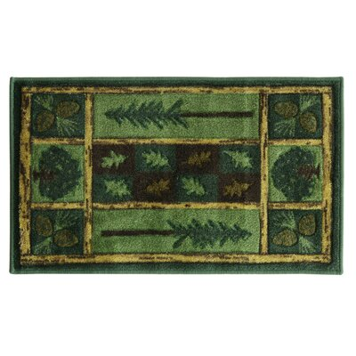 Montross Woodland Escape Green Area Rug Rug Size: Rectangle 27 x 311