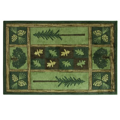 Montross Woodland Escape Green Area Rug Rug Size: Rectangle 33 x 5
