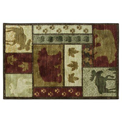 Montross Wilderness Lodge Green/Brown Area Rug Rug Size: Rectangle 33 x 5