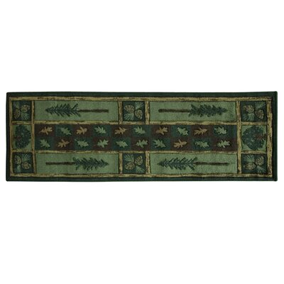 Montross Woodland Escape Black/Green Area Rug