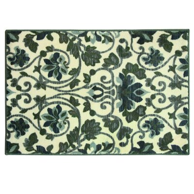 Elkton Beige/Green Area Rug Size: 20 W x 33 L