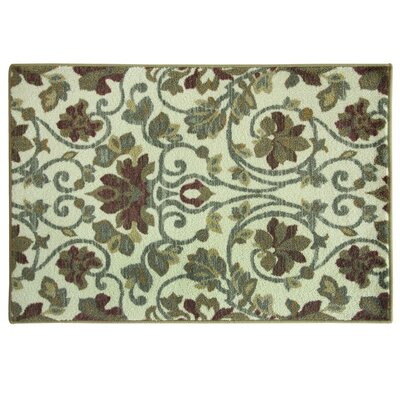 Elkton Beige/Blue Area Rug Rug Size: Rectangle 18 x 29