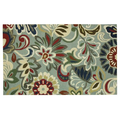 Stahlman Green/White Area Rug Rug Size: Rectangle 76 x 10