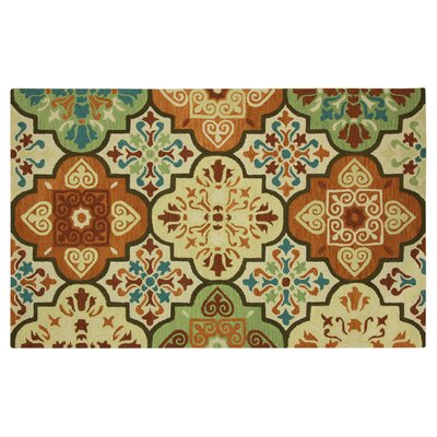 Stahlman Moroccan Tile Suns Orange Area Rug Rug Size: Rectangle 5 x 73