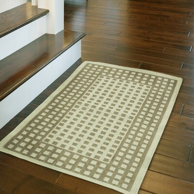 Daley Checks Beige Area Rug Rug Size: Rectangle 18 x 29