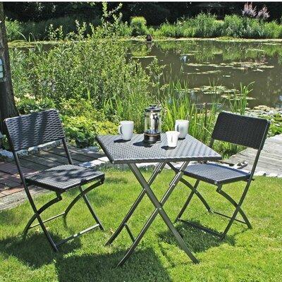 2-Sitzer Balkonset Ventana | Garten > Balkon > Balkon-Sets | Black | Rattan - Polyrattan - Kunststoff | Caracella