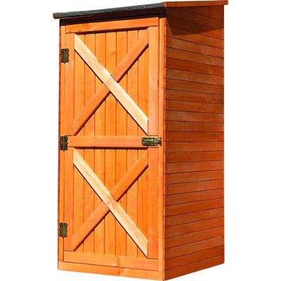 78 cm x 78 cm Werkzeugschuppen Sicily aus Massivholz | Garten > Gerätehäuser | Brown | Kiefernholz - Massivholz | dCor design