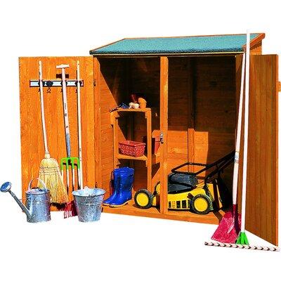 149 cm x 77 cm Werkzeugschuppen aus Massivholz | Garten > Gerätehäuser | Brown | Kiefernholz - Massivholz | dCor design