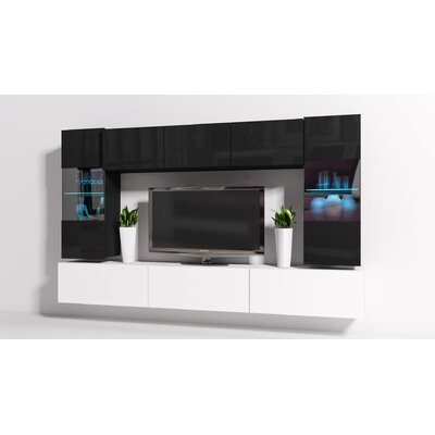 "Modern 8 Piece TV Unit for TVs up to 109"" at Wayfair"