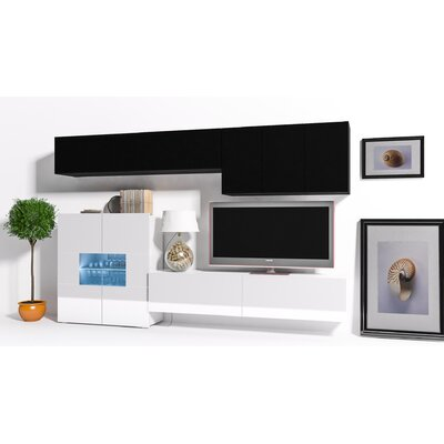 Modern 8 Piece TV Unit for TVs up to 73""