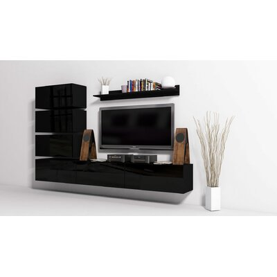 "Modern 7 Piece TV Unit for TVs up to 109"" at Wayfair"