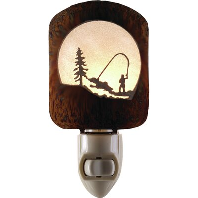Fly Fishing Scene Night Light