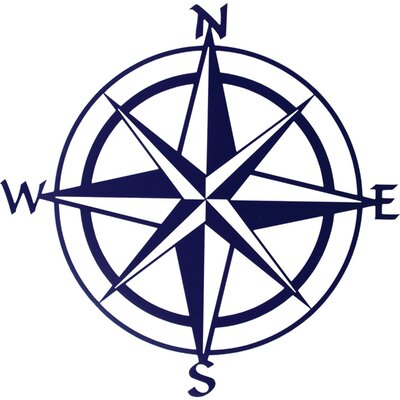 Lazart Compass Rose Wall Decor Color: Blue