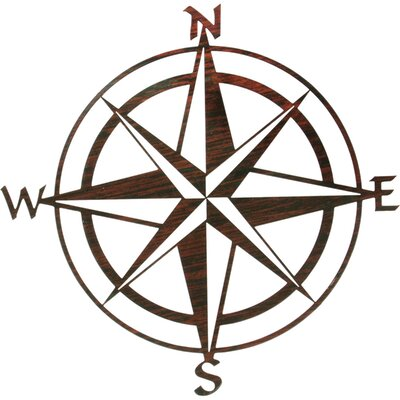 Compass Rose Wall Decor Color: Brown