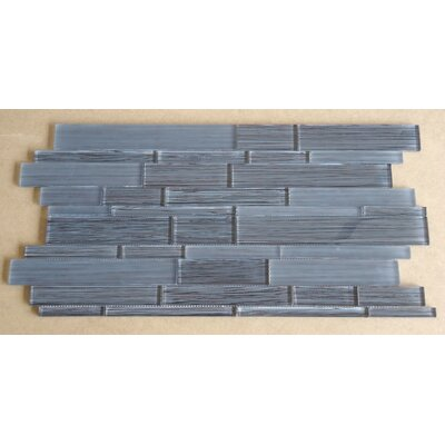 Studio Random Sized Glass Mosaic Tile in Brown and Gray