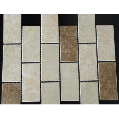 Classique 2 x 4 Porcelain Subway Tile in Beige and Ivory