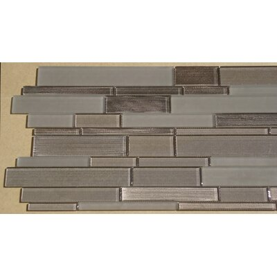 Studio Random Sized Glass Mosaic Tile in Brown