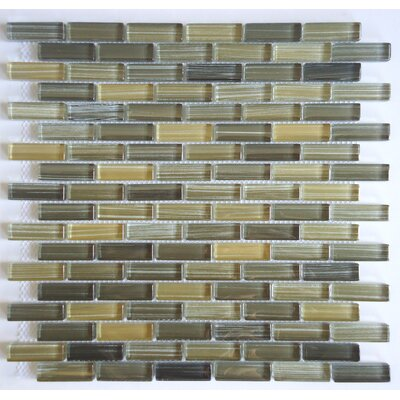 Rosewood 0.63 Slate and Glass Mosaic Tile in 5 Color Blend