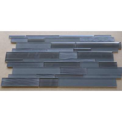 Studio Random Sized Glass Mosaic Tile in Charcoal Gray