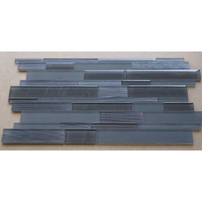 Studio Random Sized Glass Mosaic Tile in Charcoal Gray