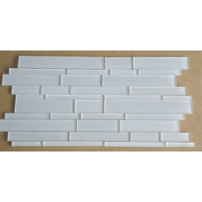 Studio Random Sized Glass Mosaic Tile in White