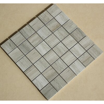 Teakwood 2 x 2 Porcelain Mosaic Tile in Matte Gray